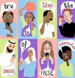 coronavirus fake news - un illustration