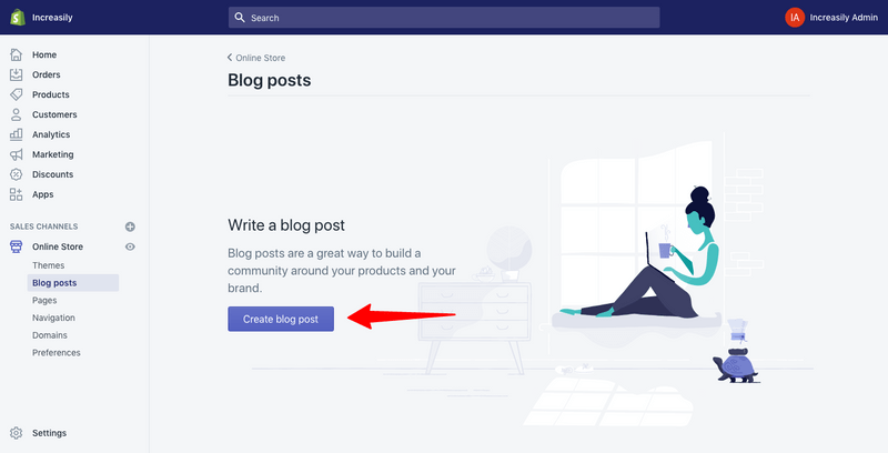 optimise your shopify blog post create a blog post
