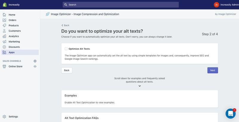 compress images on shopify alt text