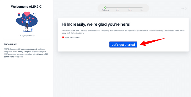 how to enable amp in shopify amp by sheriff