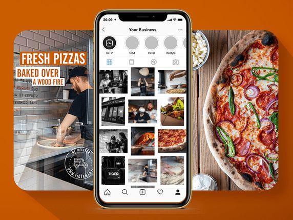 tiger wood fire pizza social media client