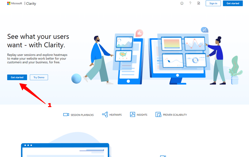 microsoft clarity get started