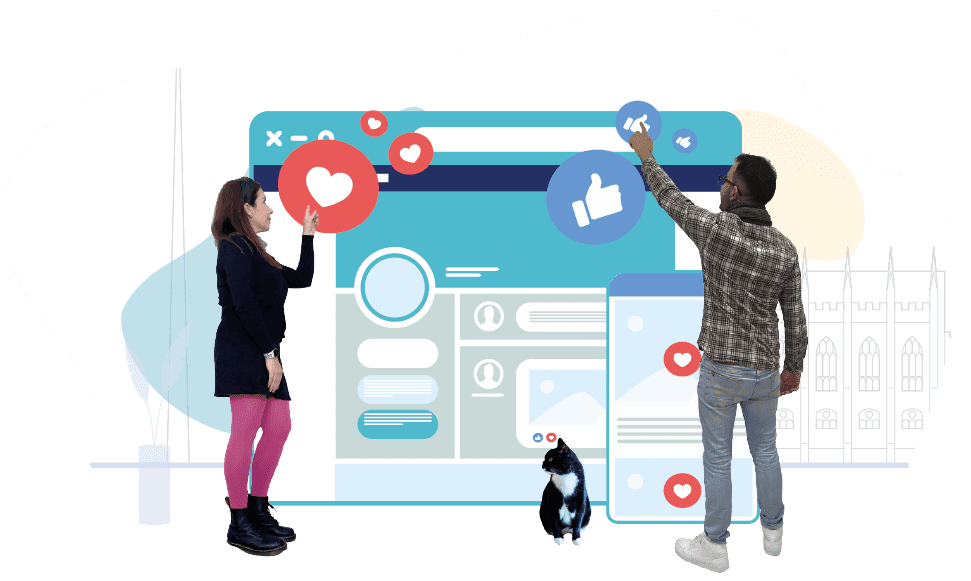 """Grow Your Audience with Our<br> <span class=""""f_700""""> Social Media Agency </span>"""
