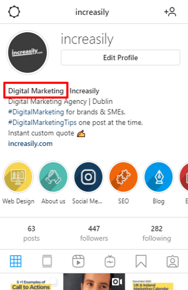 increasily instagram display name