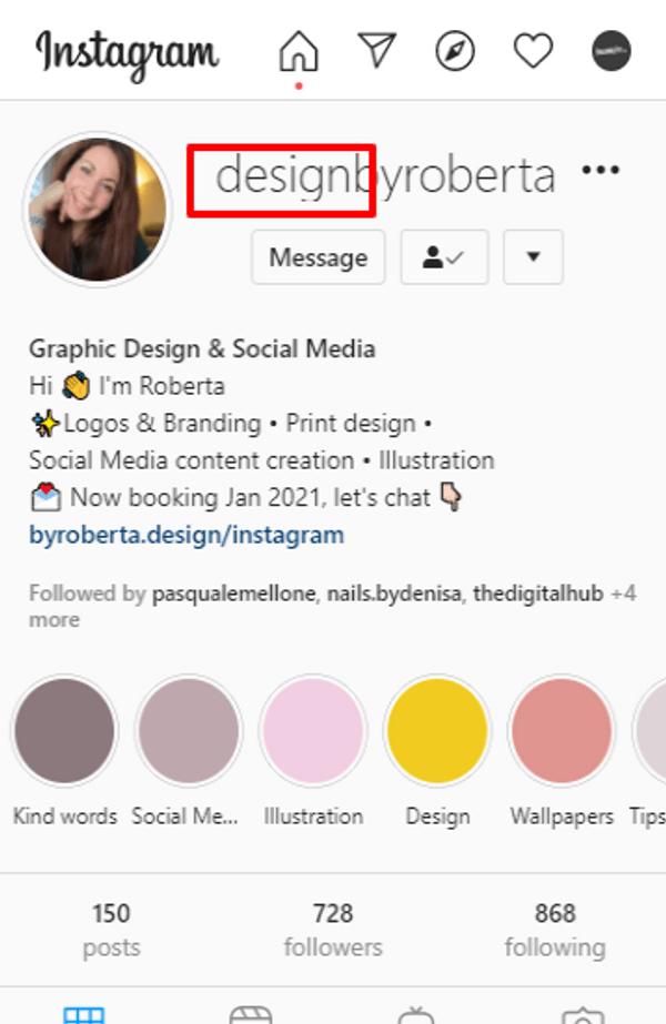 design by roberta instagram username