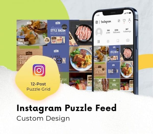 instagram grid layout puzzle