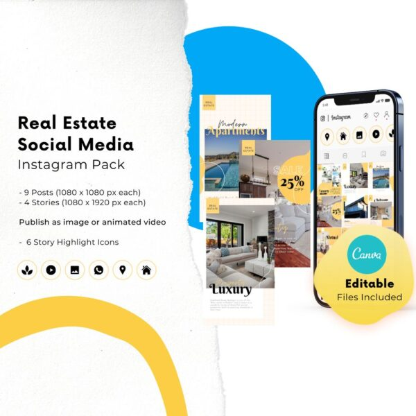instagram canva templates for real estate