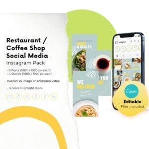 instagram canva templates for restaurants