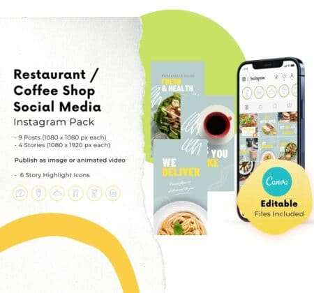 instagram canva templates for restaurants