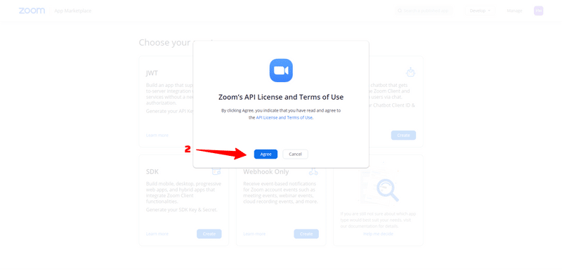 agree to zoom marketplace terms of use