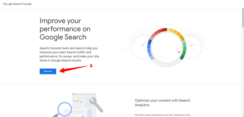 sign in google search console