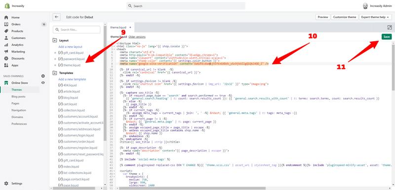 add html tag theme liquid
