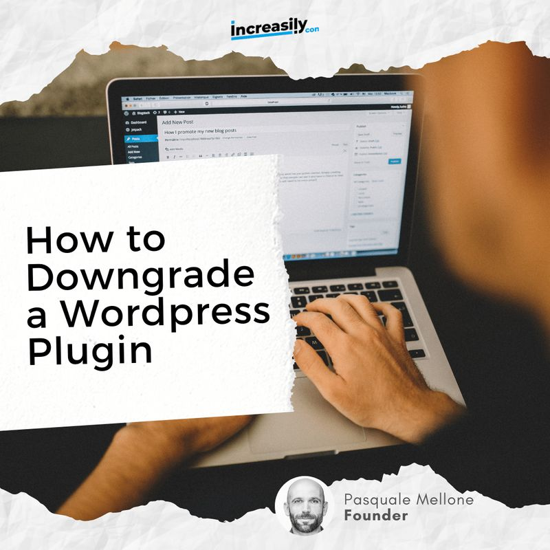 how to downgrade a wordpress plugin