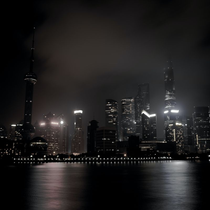 how to enable dark mode in wordpress - city skyscrapers in the dark