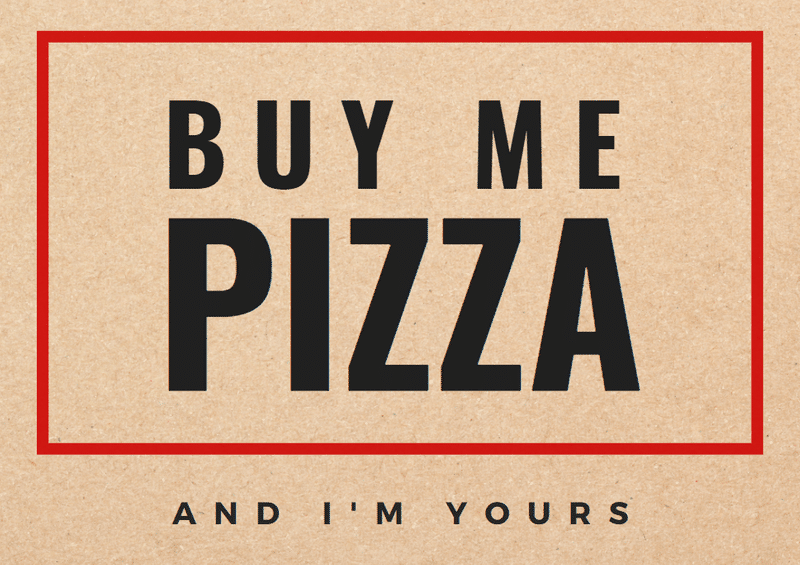 buy me pizza valentine's day canva template
