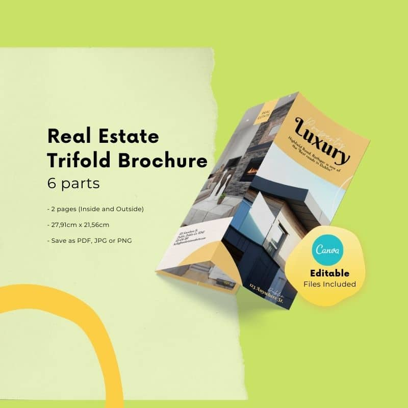 canva brochure template for real estate