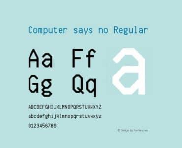computer says no font regular