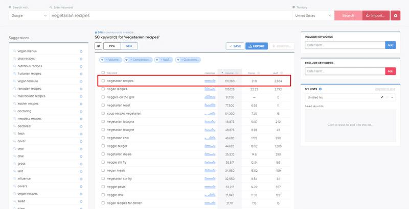 find keyword search volume wordtracker
