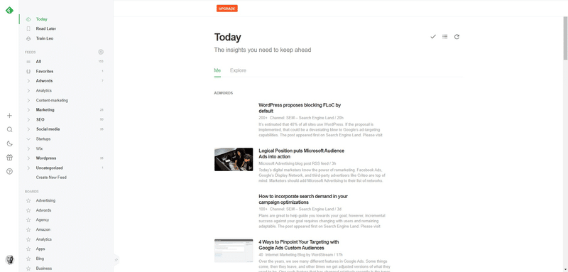 how to generate ideas with feedly