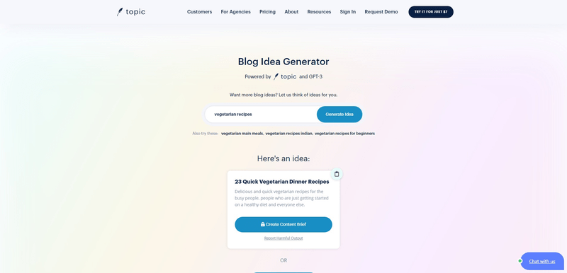 how to generate ideas with usetopic blog idea generator