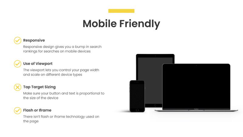 mobile friendly seo audit slide