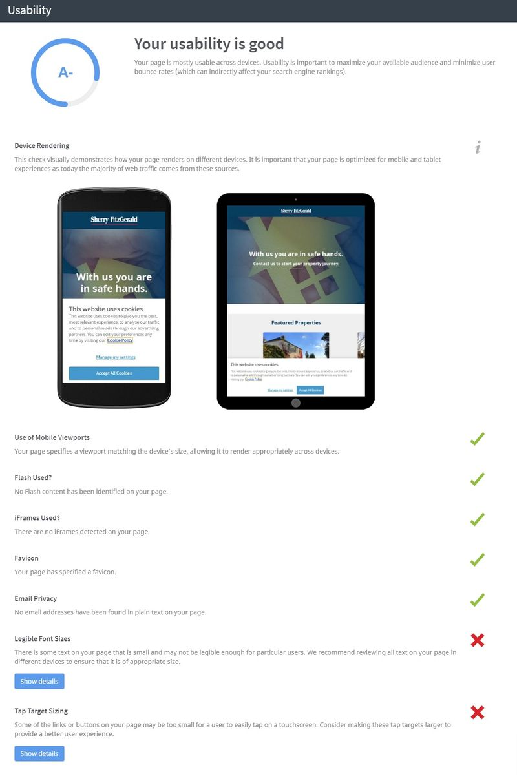 responsive layout seo audit slide