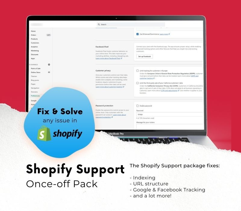 shopify support package