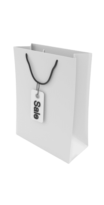 ppc agency dublin shopping bag with sale tag