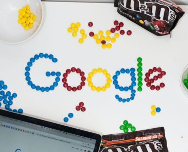 july 2021 google core update - google logo made with M&Ms